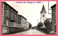 Entrée du village en 1950