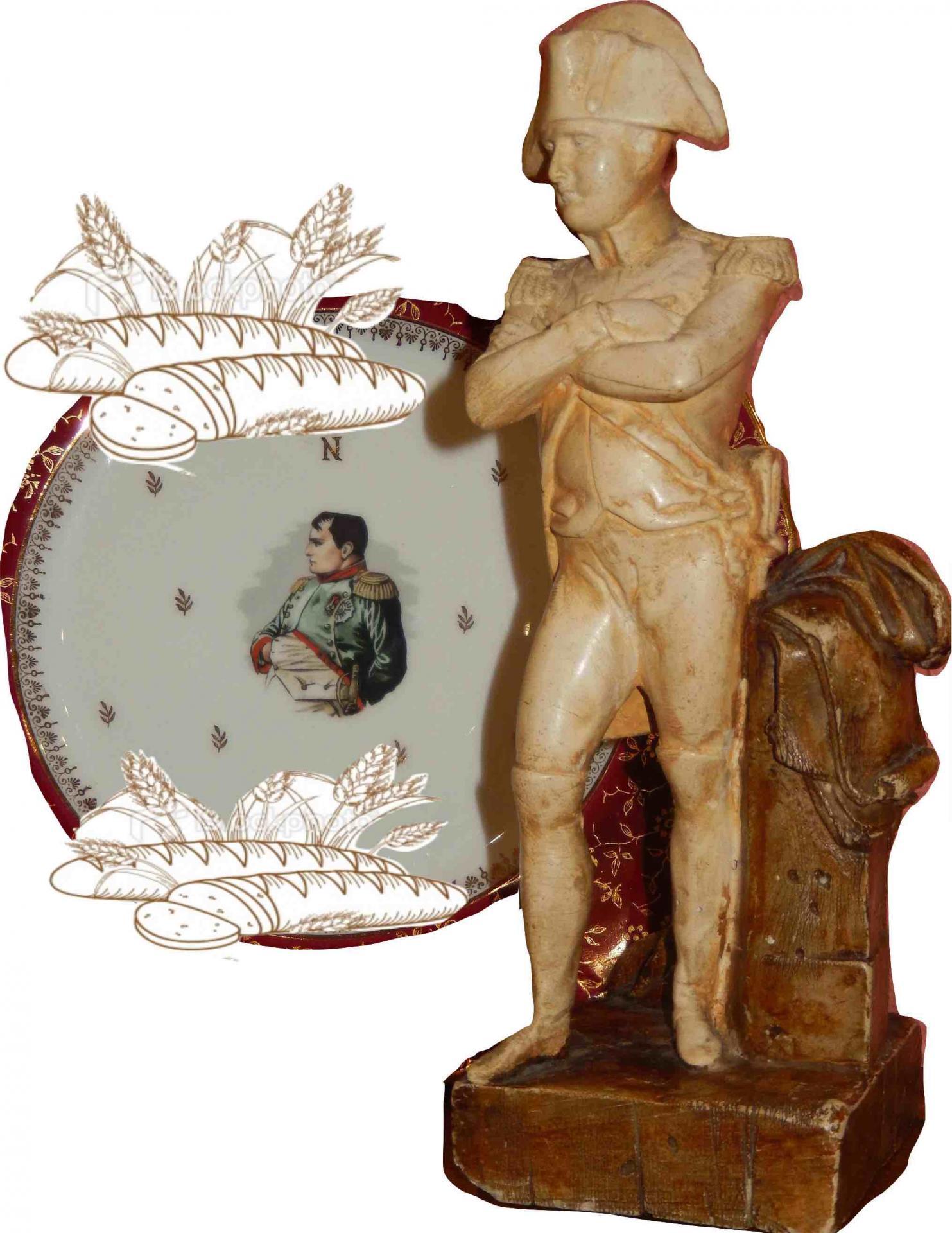 Assiette porcelain statue de tour