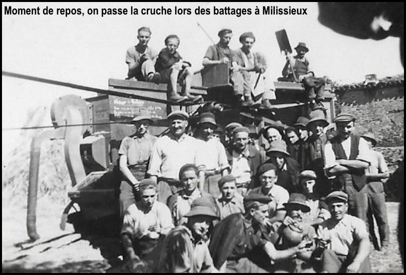 Battage a milissieux 1945 2