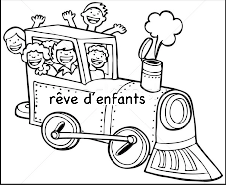 Dessin enfants train