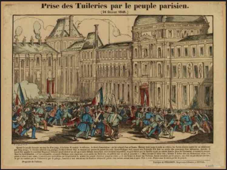 Fe vier 1848 tuileries