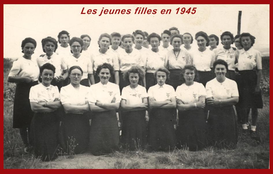 Jeunes filles vers 1945