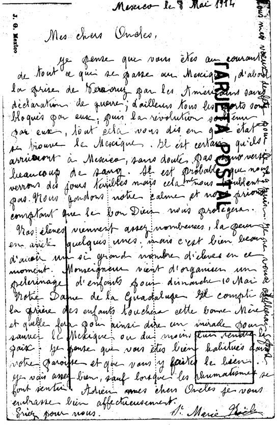 Mexico le 8 mai 1914