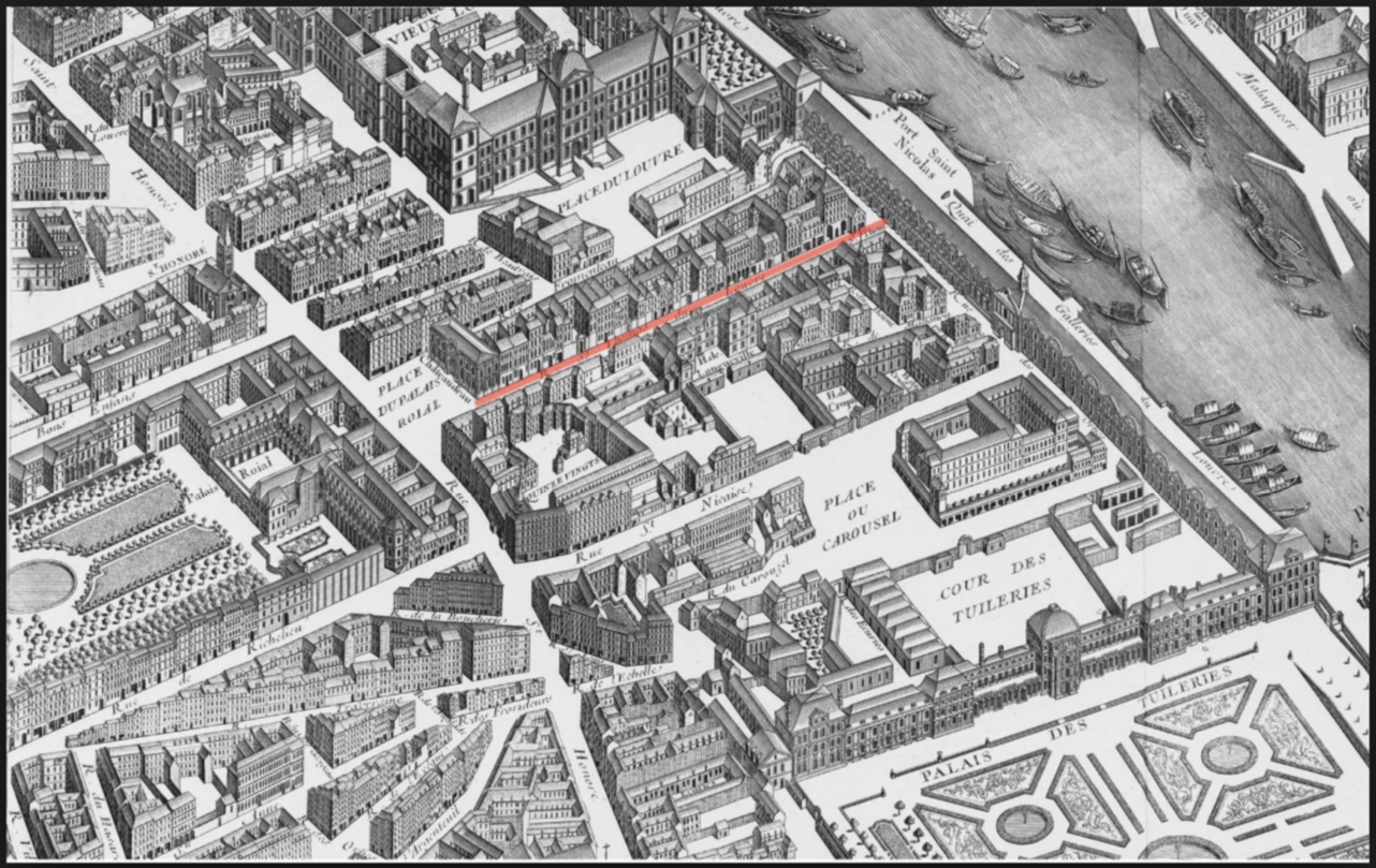 Plan du louvre 1800